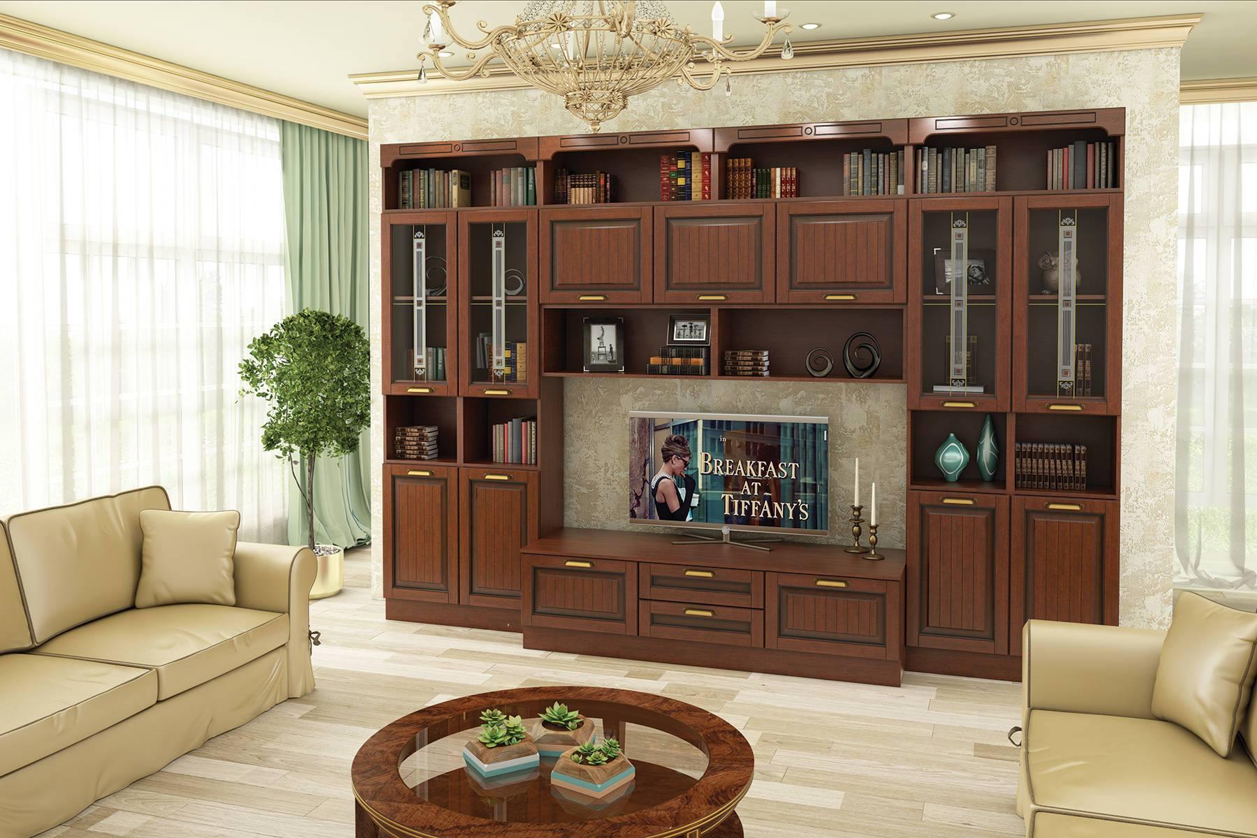 Кухня Гостиная Бристоль на заказ набор настольный bestar osiris из массива дерева сепетир 7 предметов цвет орех 236387