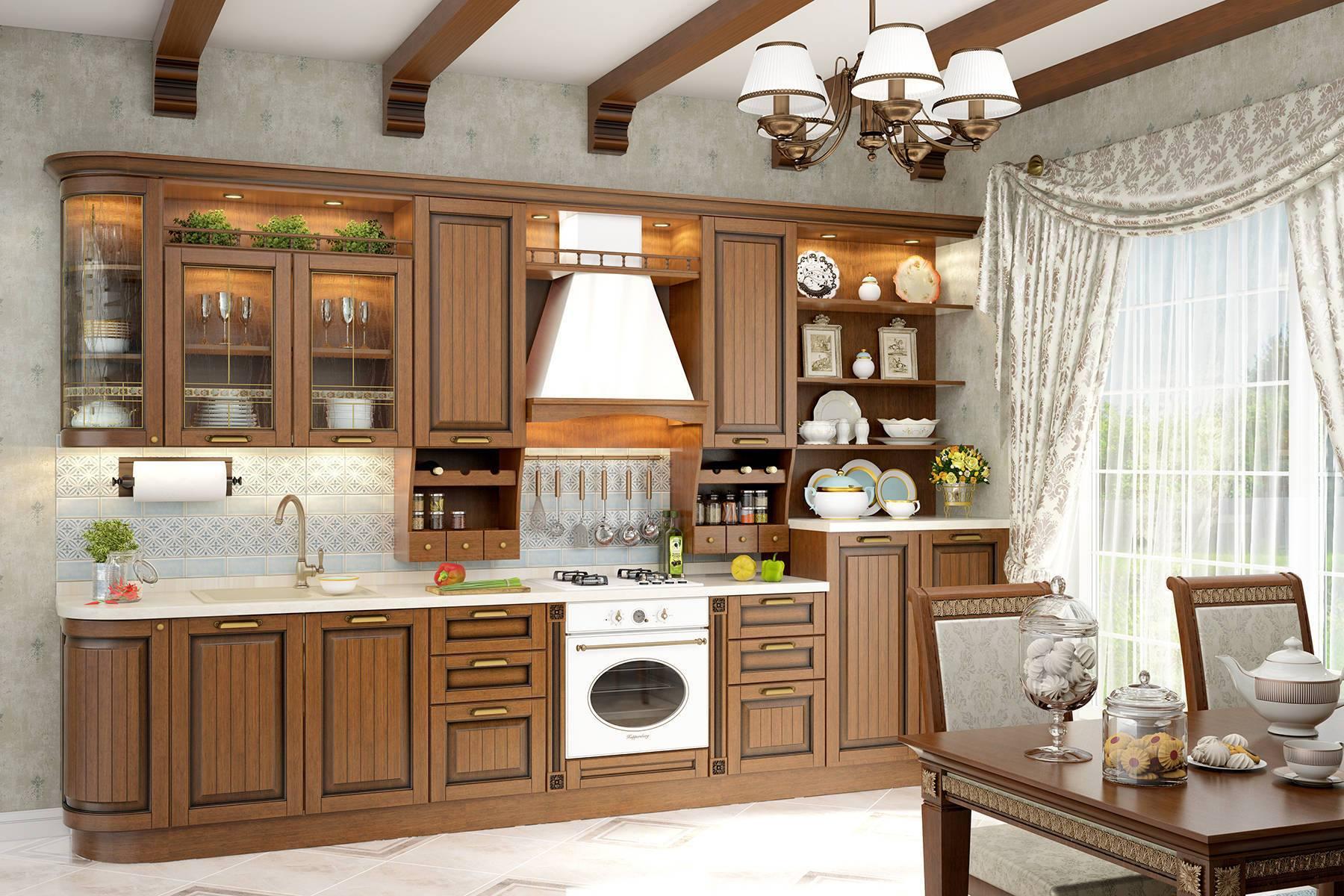 Кухня Бристоль на заказ набор настольный bestar osiris из массива дерева сепетир 7 предметов цвет орех 236387