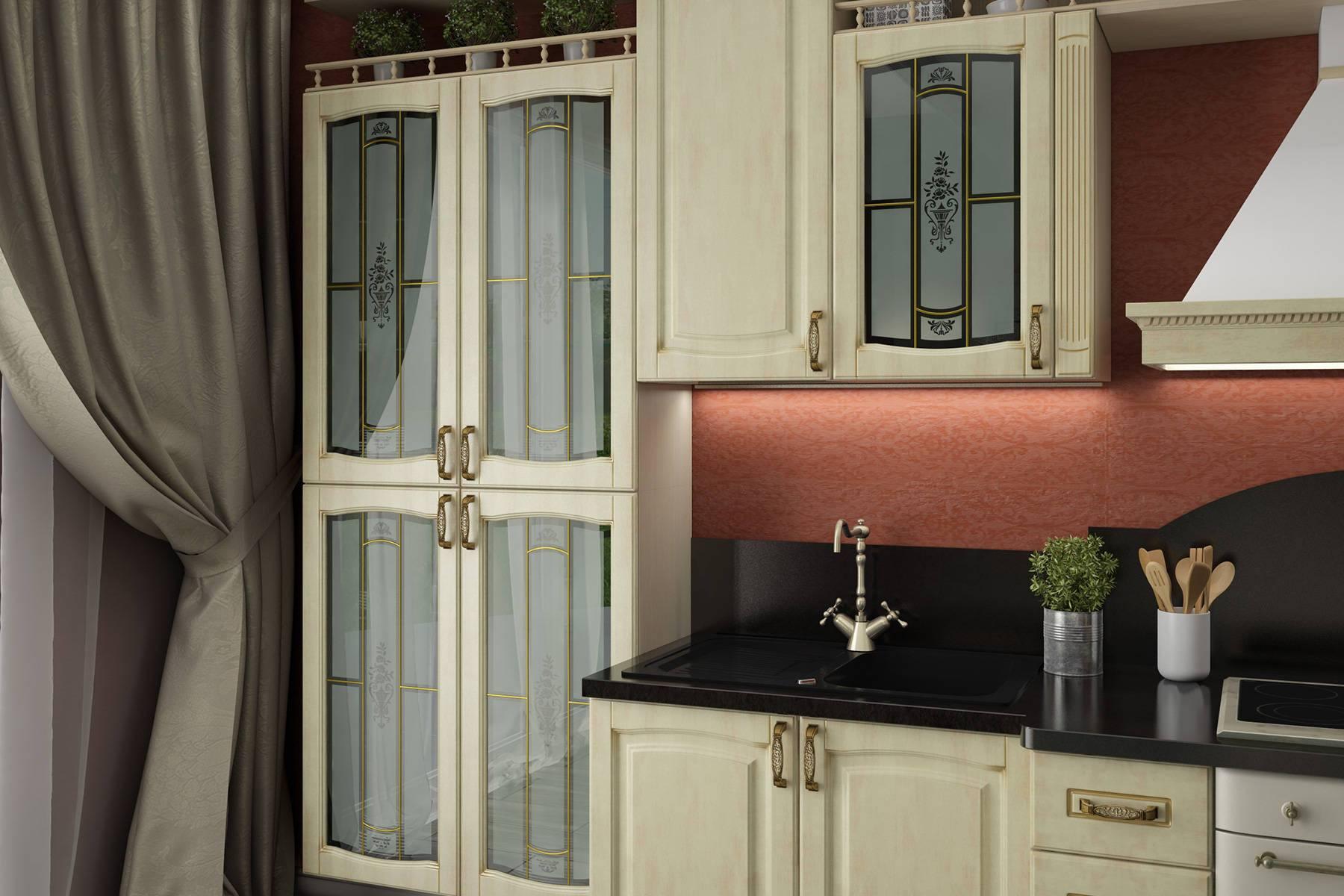 Кухня Равенна (дуб романский) на заказ
