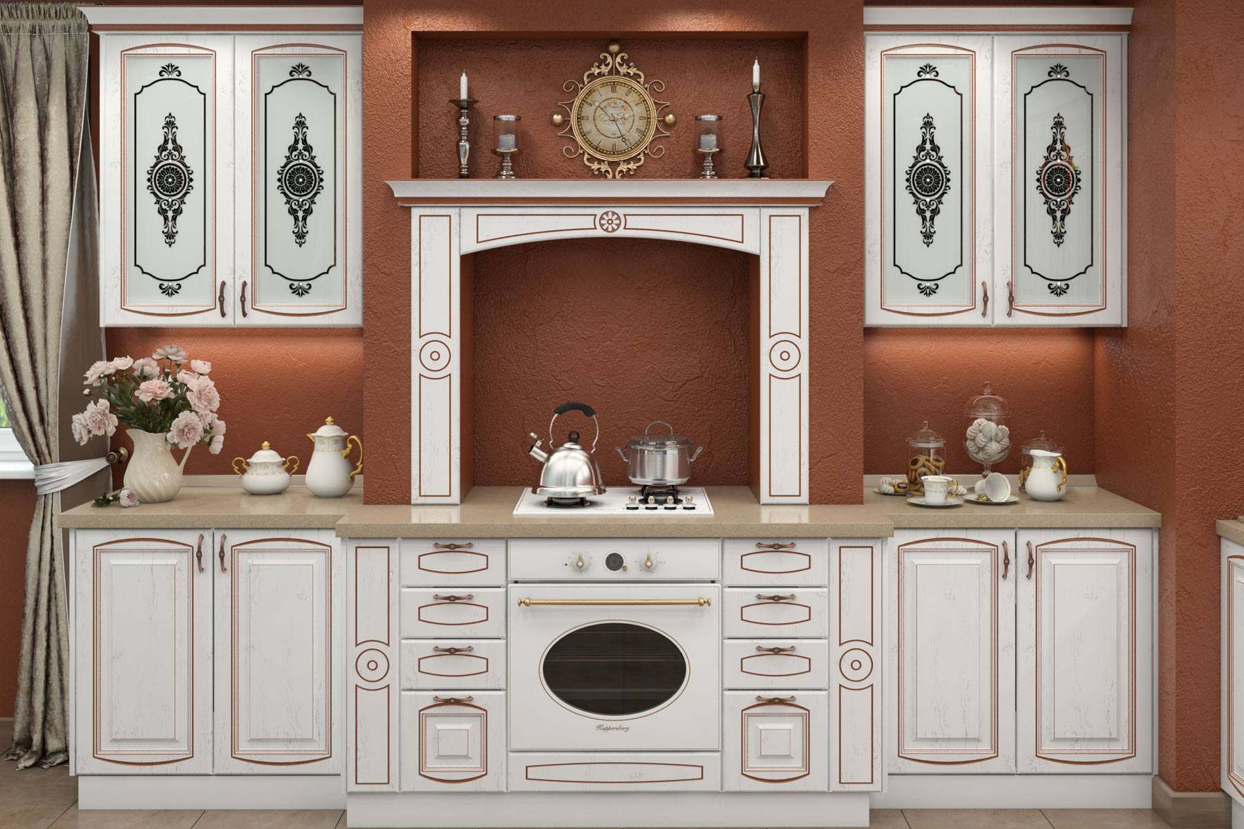 Кухня LUX (дуб светлый) на заказ