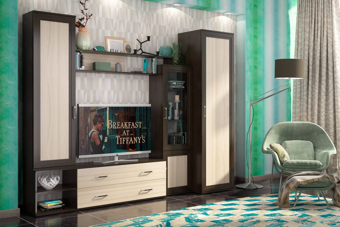 Купить Стенка со шкафом Абель в  интернет магазине мебели. Мебельный каталог STOLLINE.