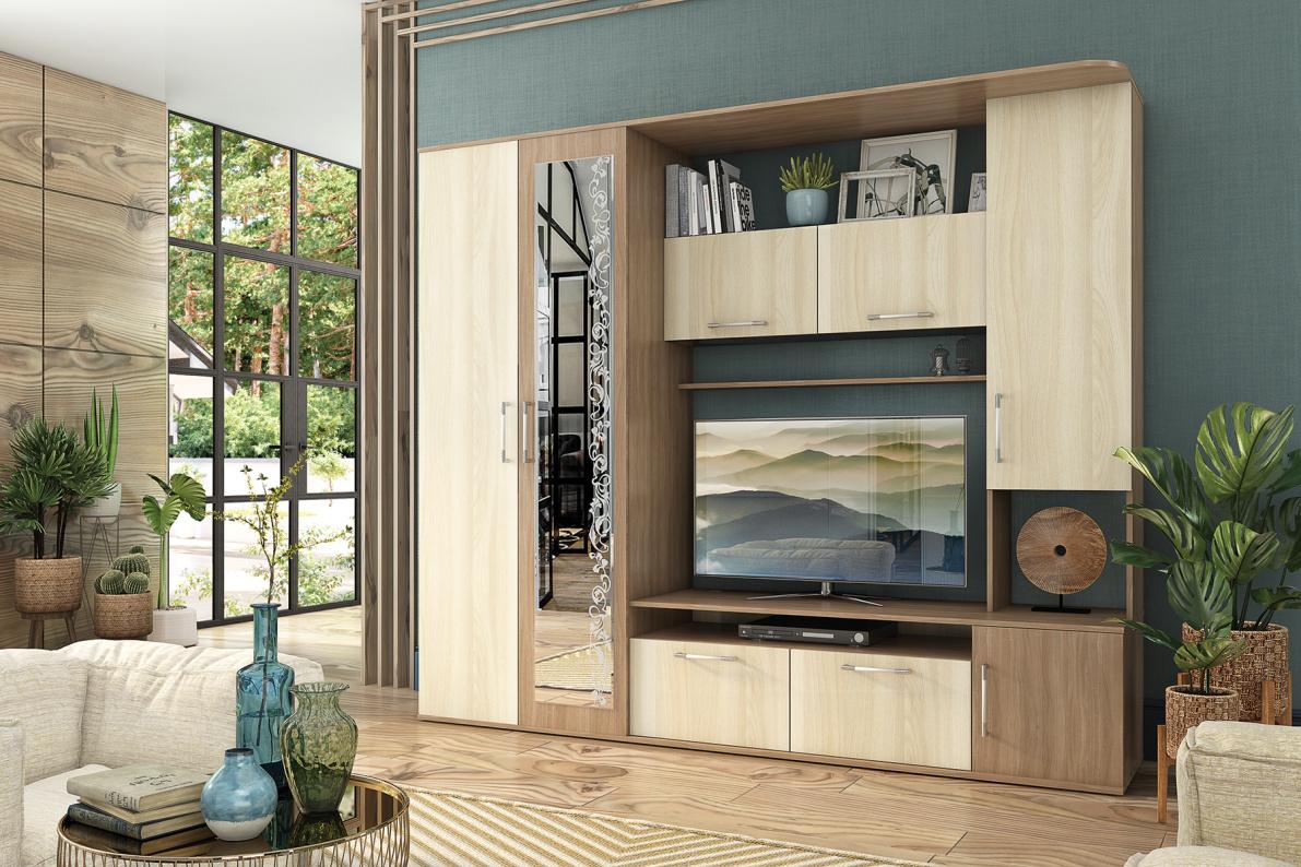 Купить Стенка Алегро в  интернет магазине мебели. Мебельный каталог STOLLINE.