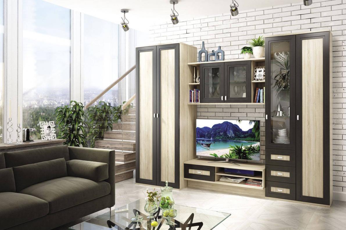 Купить Стенка Аурелия в  интернет магазине мебели. Мебельный каталог STOLLINE.