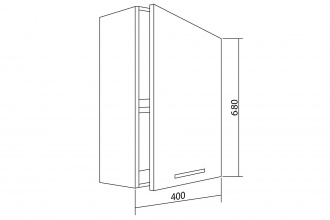 Шкаф навесной Белла СТЛ.281.01