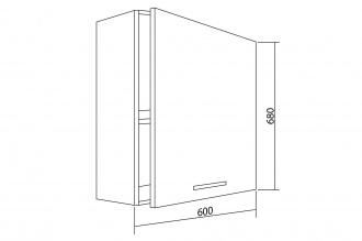 Шкаф навесной Белла СТЛ.281.02