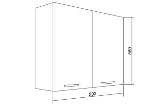 Шкаф навесной Белла СТЛ.281.03