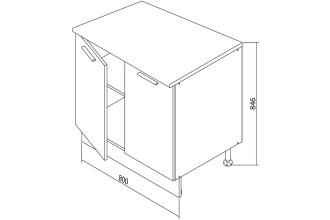 Шкаф напольный Белла СТЛ.281.07