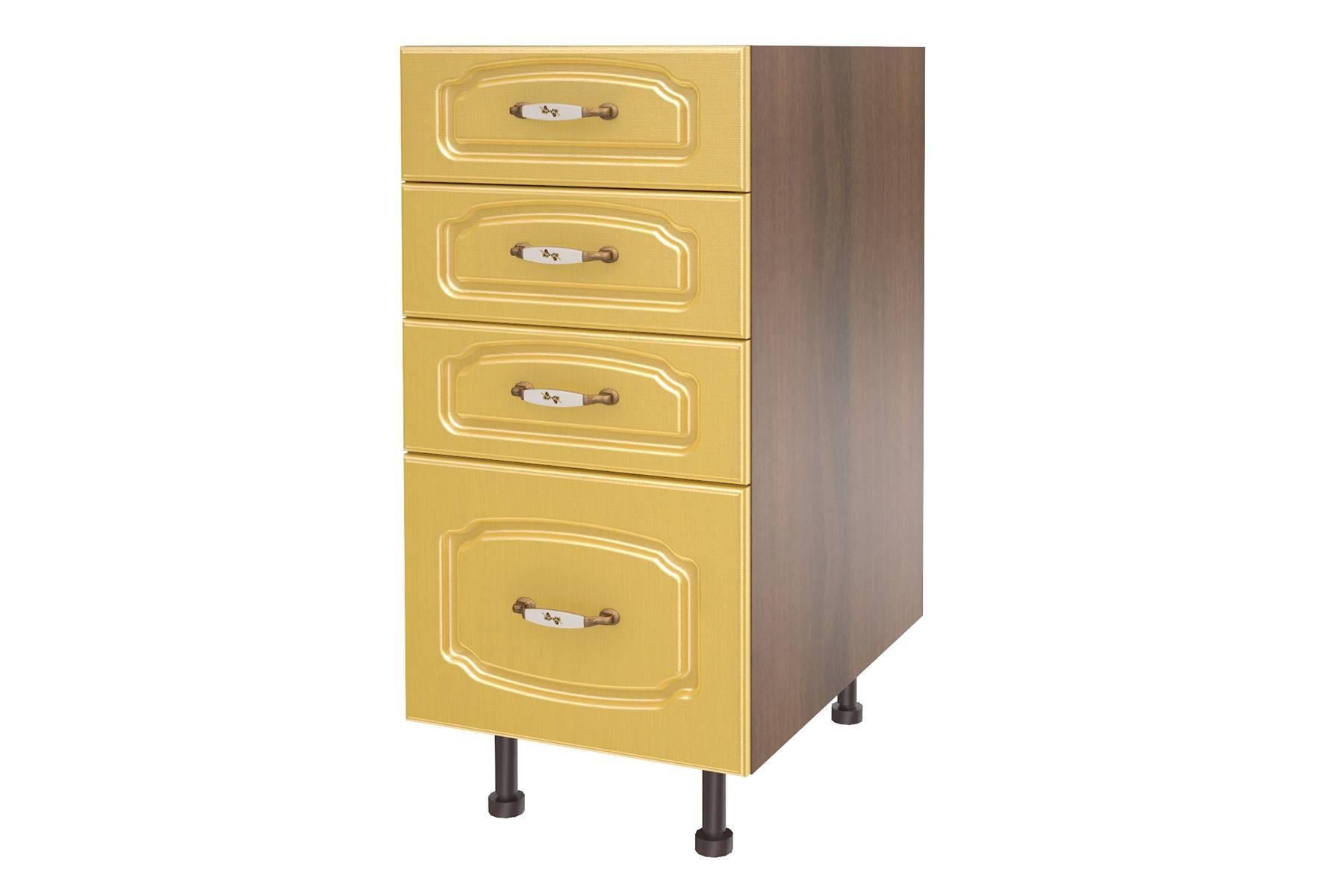 Эмилия шкаф напольный с 4-мя ящиками