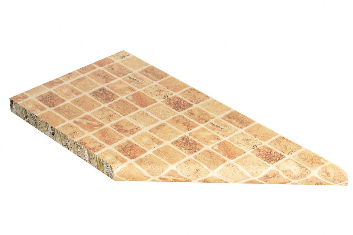 Купить Столешница торцевая лев. Лигурия с кромкой 807М 26мм в  интернет магазине мебели. Мебельный каталог STOLLINE.