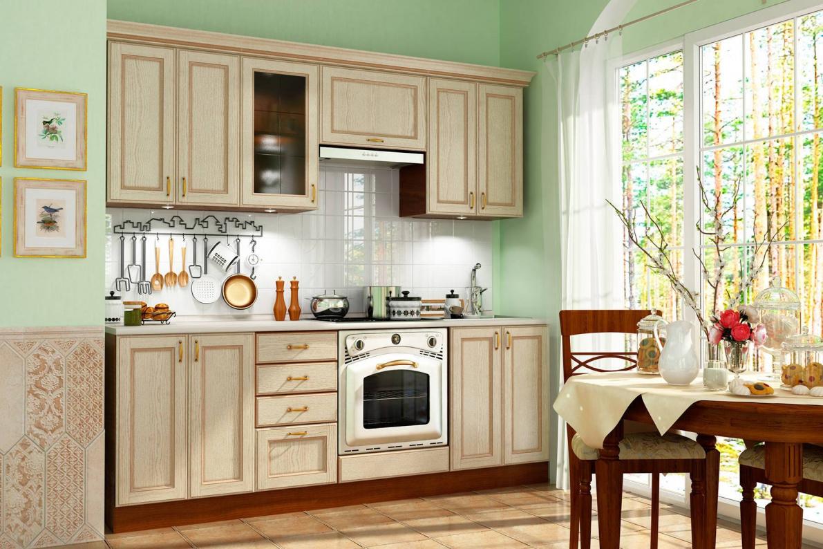 Купить Кухня Эмилия Ясень светлый (Массив Италия) в  интернет магазине мебели. Мебельный каталог STOLLINE.