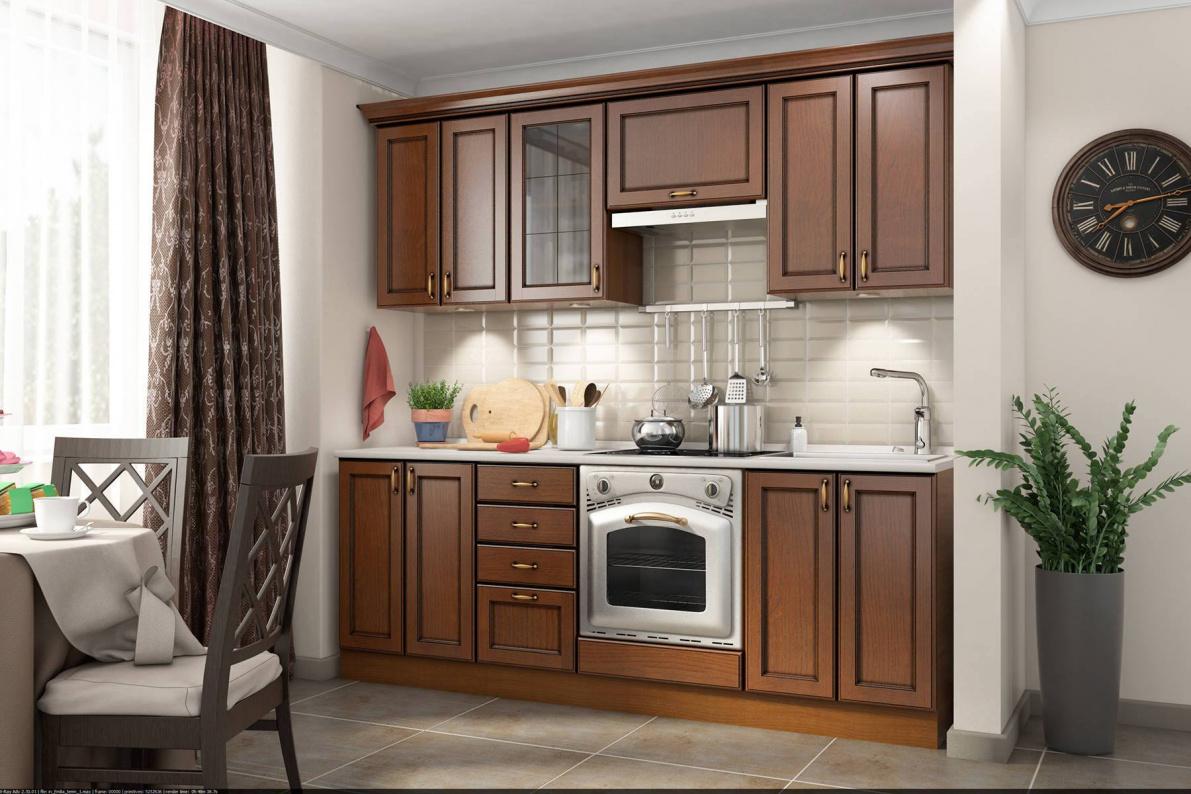Купить Кухня Эмилия Ясень темный (Массив Италия) в  интернет магазине мебели. Мебельный каталог STOLLINE.
