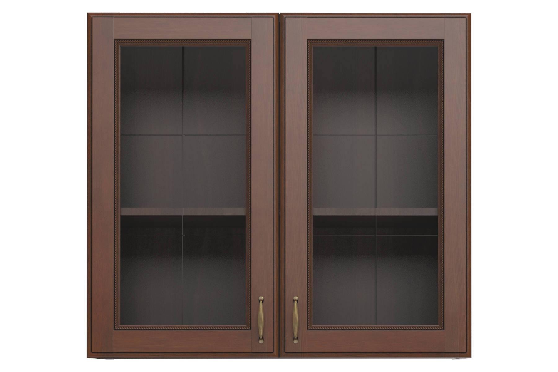 Эмилия шкаф навесной с 2 витринами