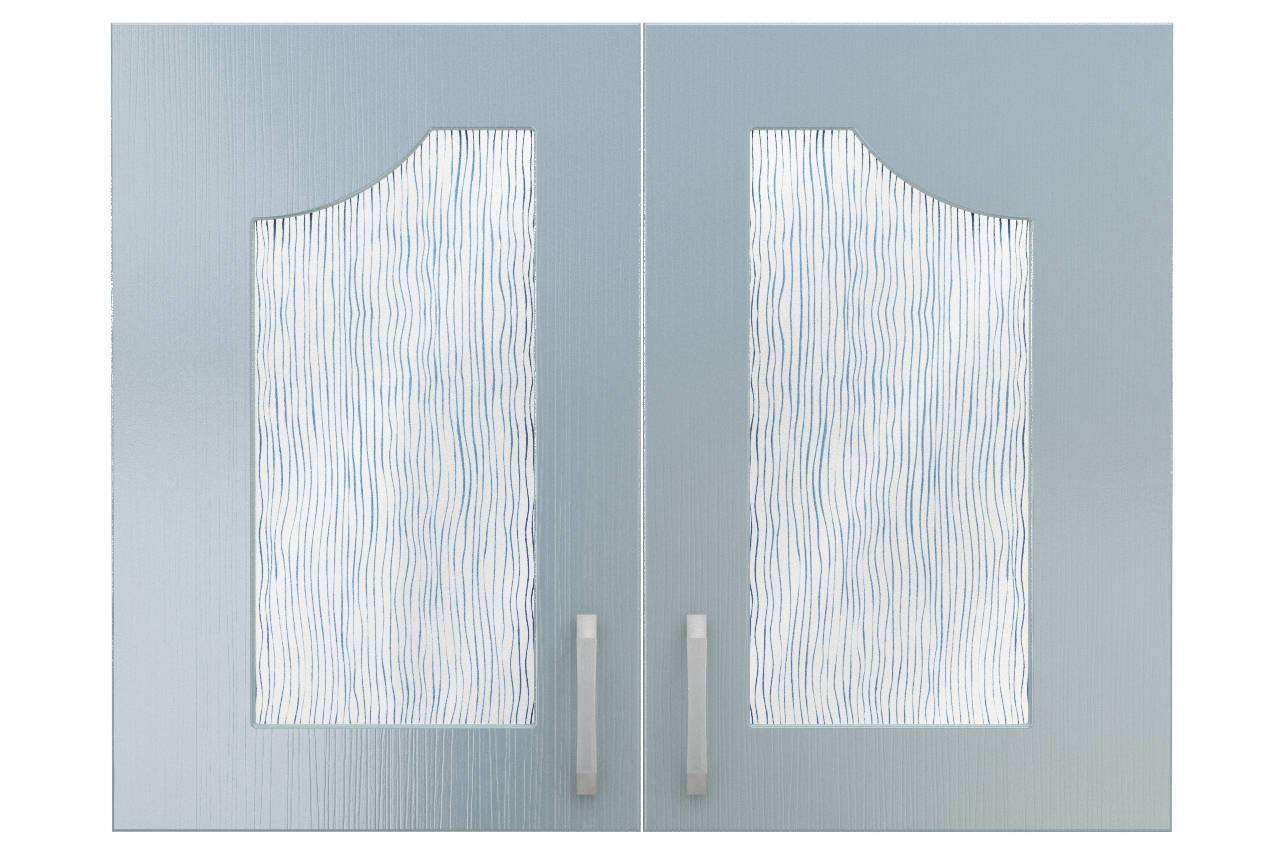 Фасады СТЛ.093.16 со стеклом для шкафа СТЛ.093.14 Флауэ Бирюза