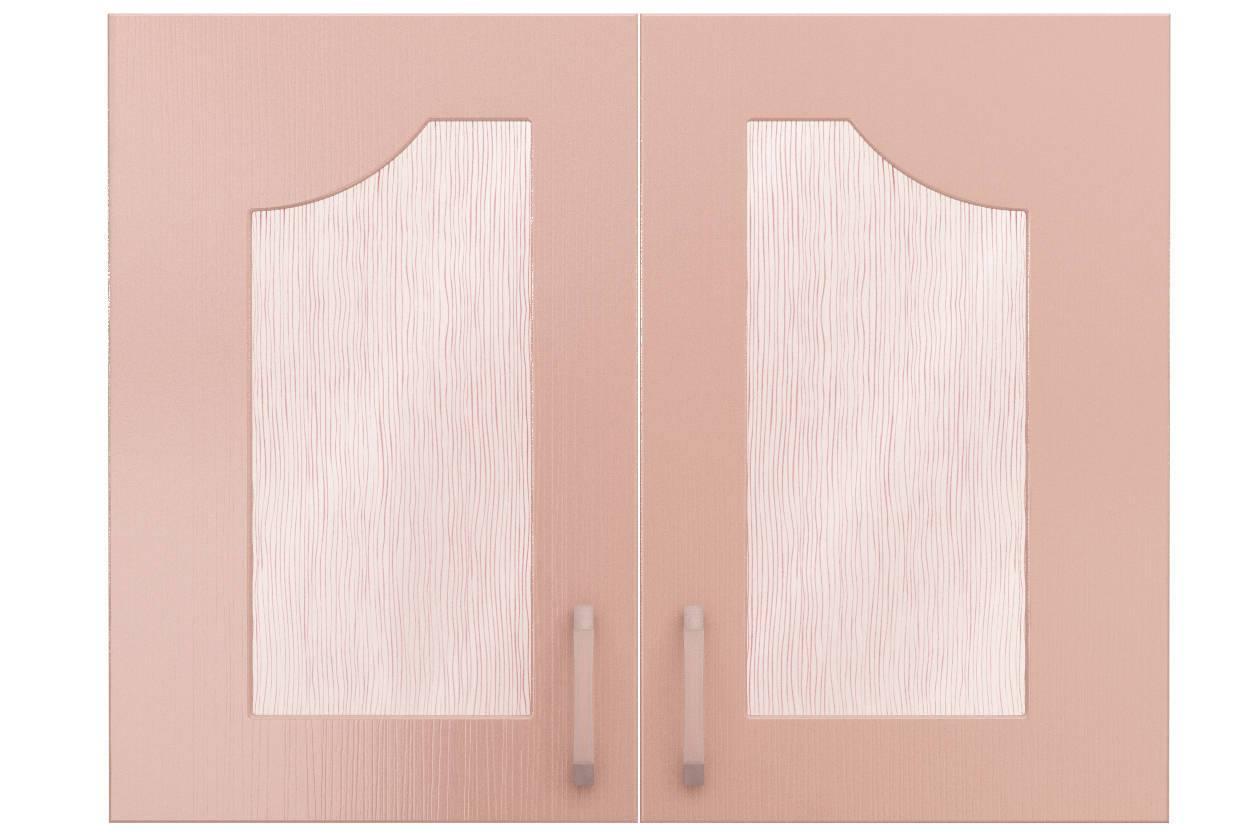 Фасады СТЛ.093.16 со стеклом для шкафа СТЛ.093.14 Флауэ Розовый