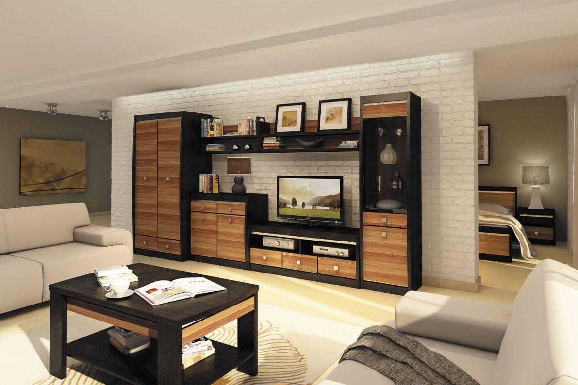 Купить Модульная система Ксено Дуб феррара/Слива в  интернет магазине мебели. Мебельный каталог STOLLINE.
