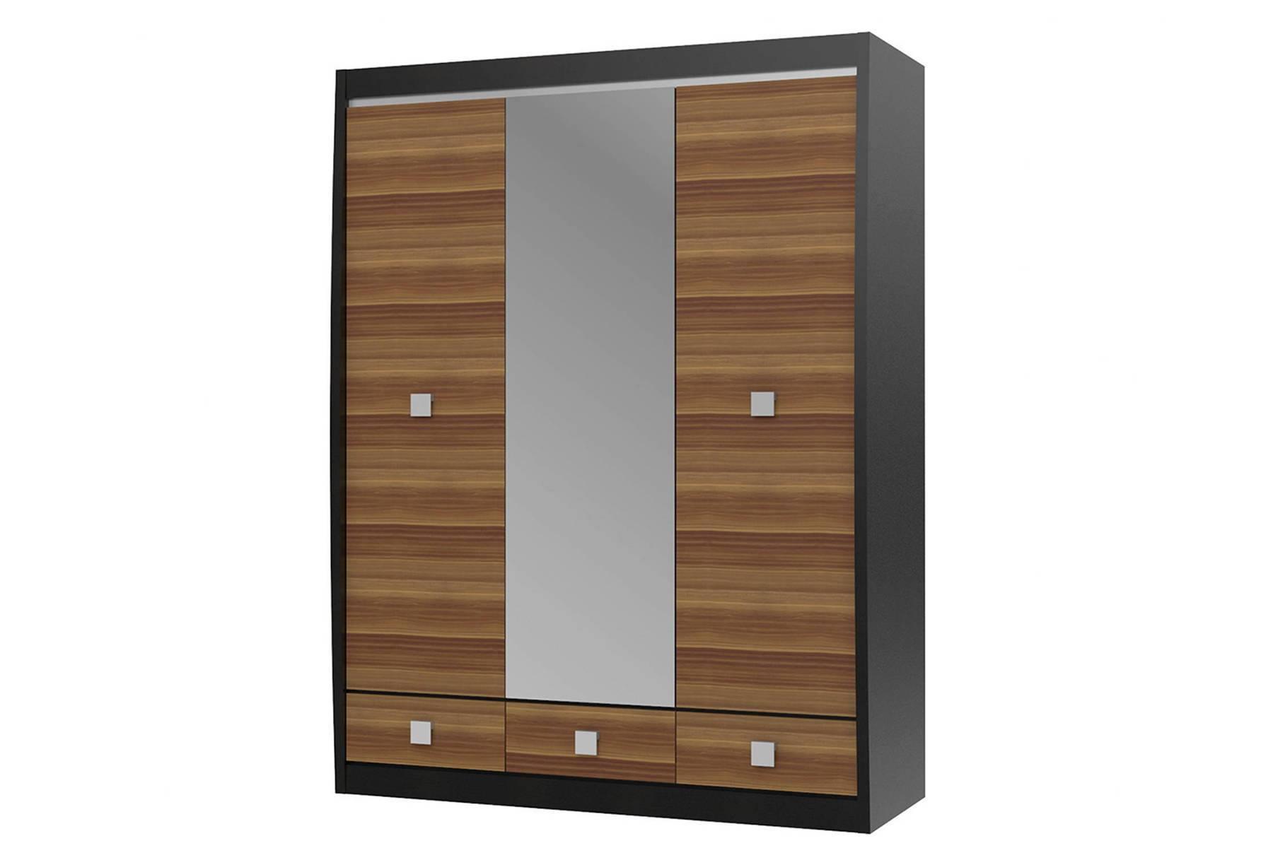 цена на Шкаф с зеркалом 3-х дверный с 3-мя ящиками Ксено СТЛ.078.16