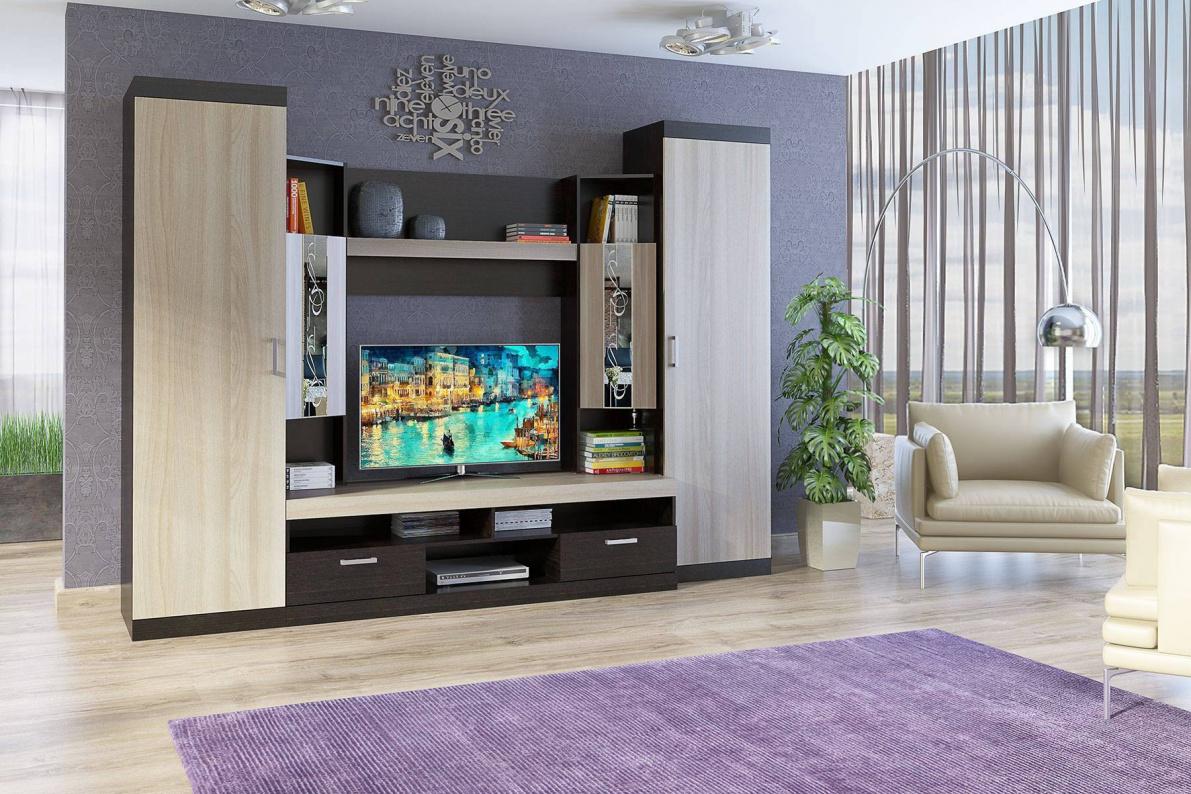 Купить Стенка Мальта в  интернет магазине мебели. Мебельный каталог STOLLINE.