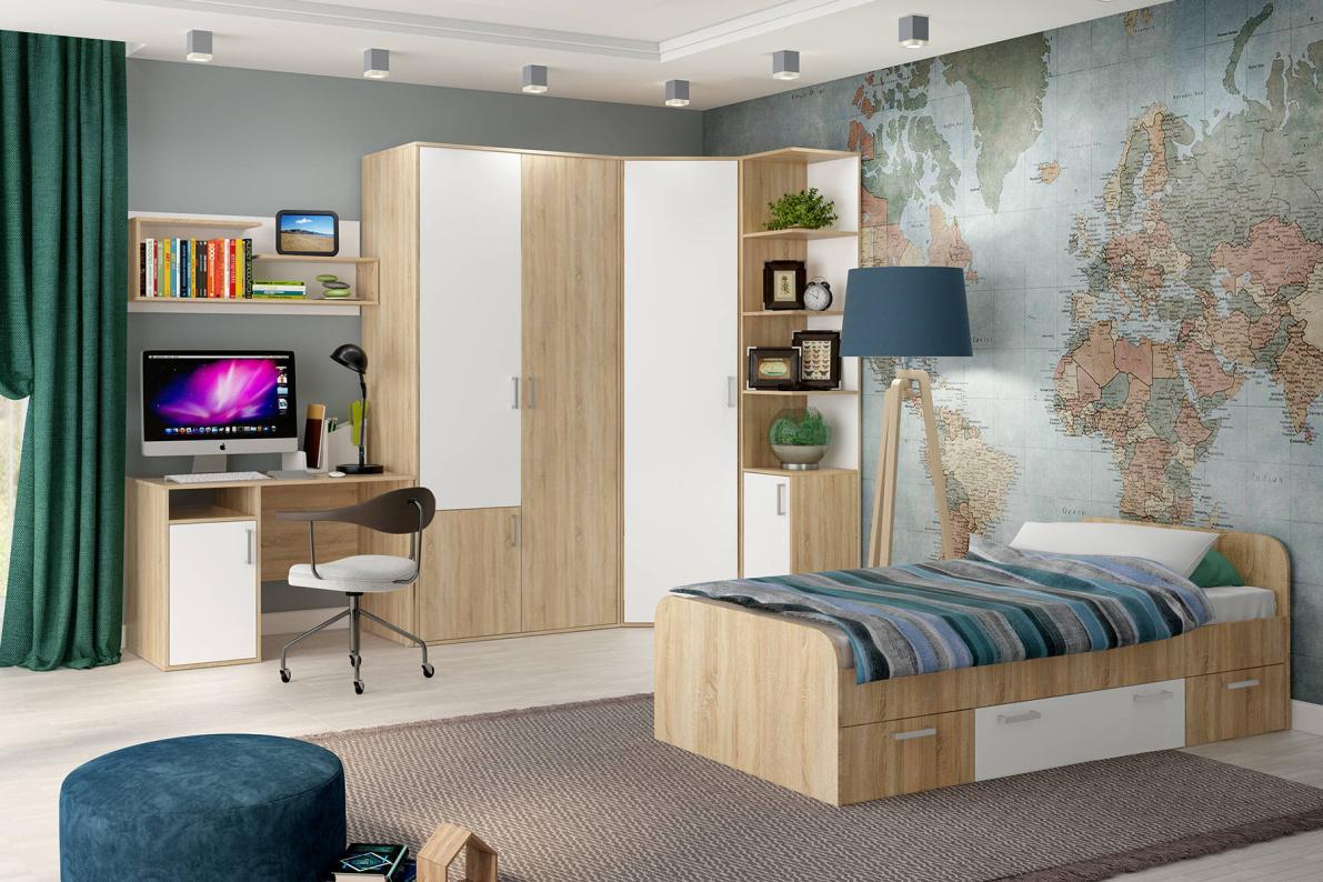 Купить Модульная система Мика Дуб сонома в  интернет магазине мебели. Мебельный каталог STOLLINE.