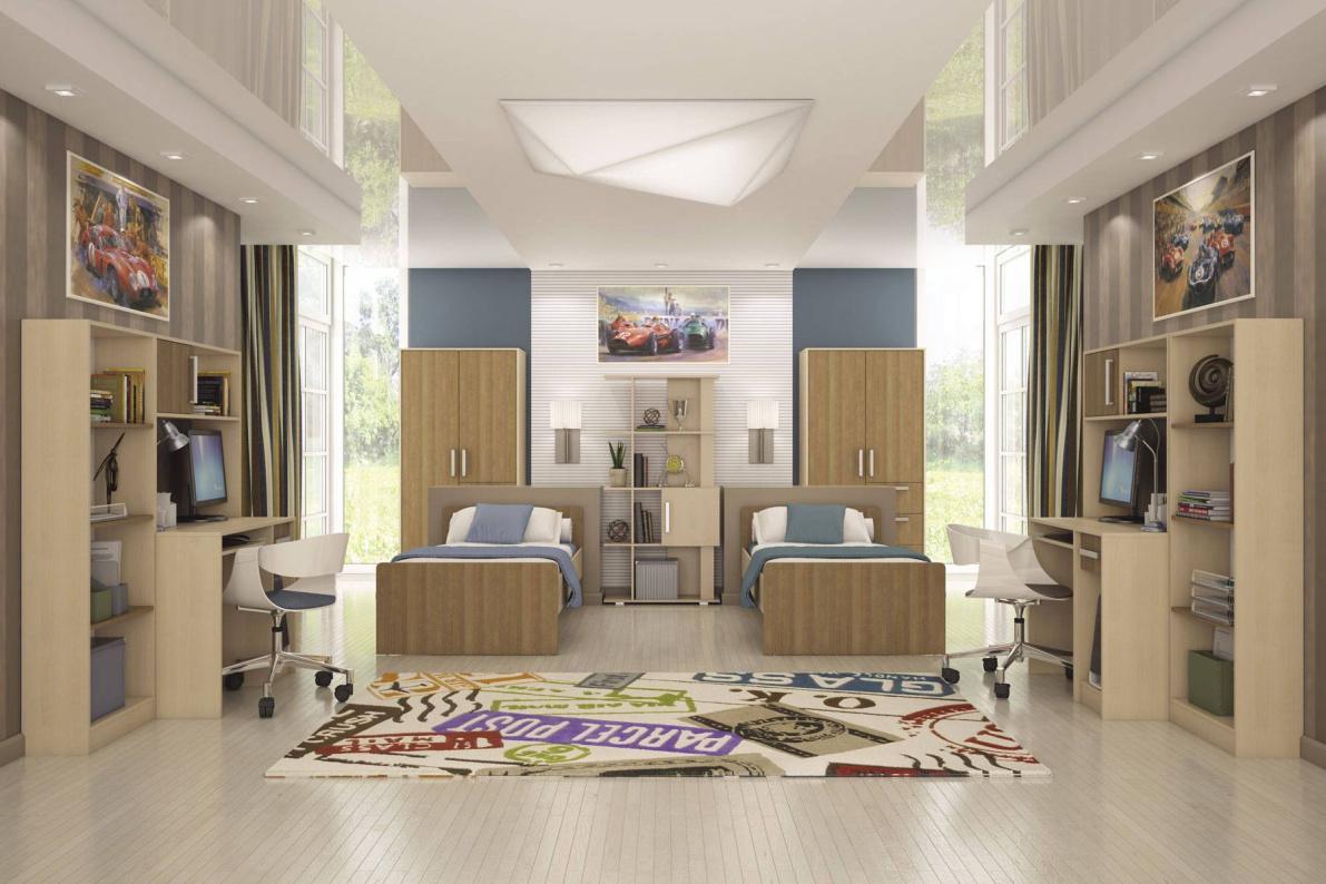 Купить Модульная система Мика Дуб кремона/ Ясень кассино в  интернет магазине мебели. Мебельный каталог STOLLINE.