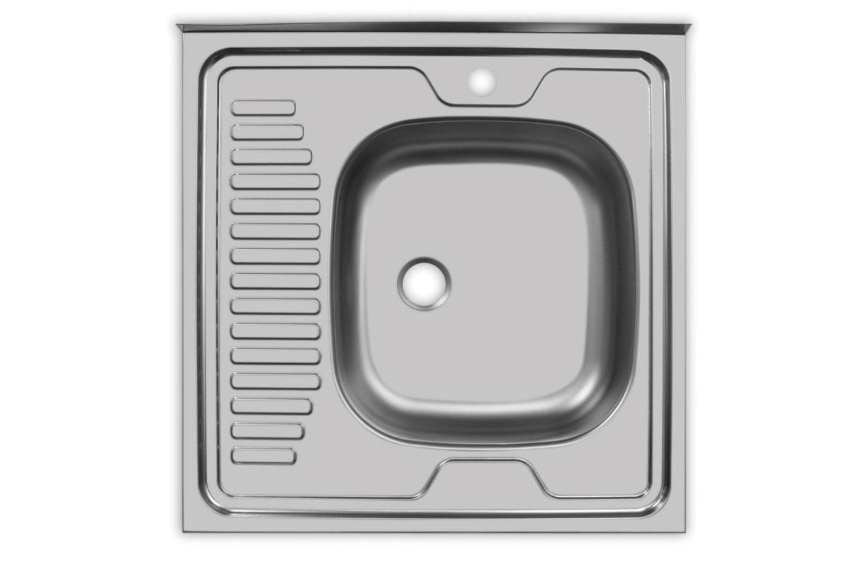 Купить Мойка Юкинокс Стандарт STD600.600 - 5С ОR накладная правая в  интернет магазине мебели. Мебельный каталог STOLLINE.