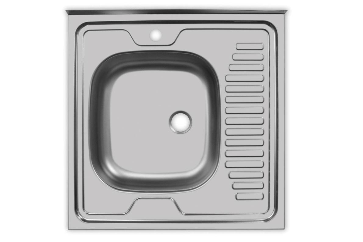 Купить Мойка Юкинокс Стандарт STD600.600 - 5С ОL накладная левая в  интернет магазине мебели. Мебельный каталог STOLLINE.