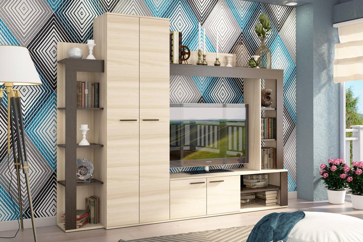 Купить Стенка Осло в  интернет магазине мебели. Мебельный каталог STOLLINE.