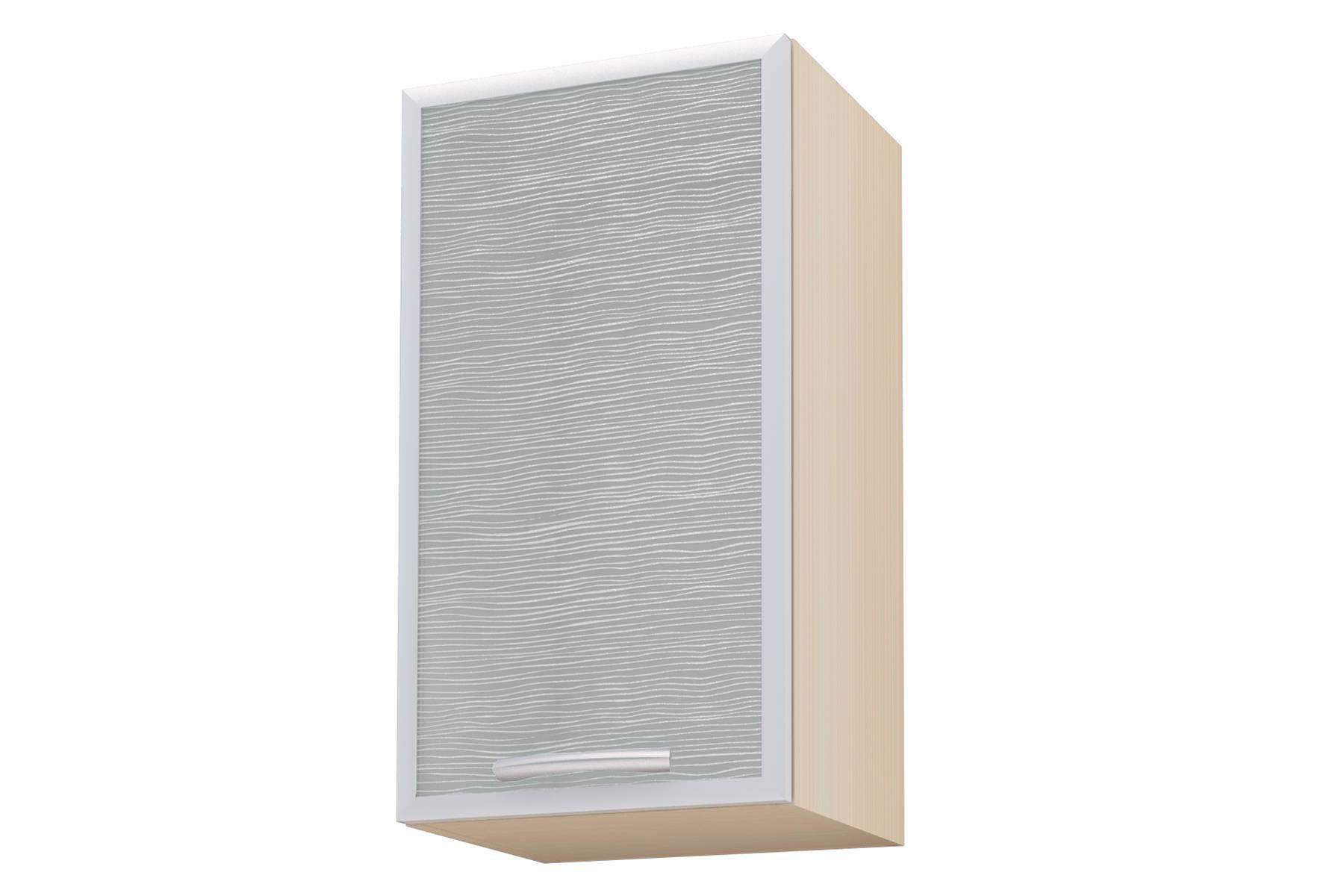 Селена шкаф навесной ш.400, фасад левый декор уралкерамика бриз вс11бр604 60x20