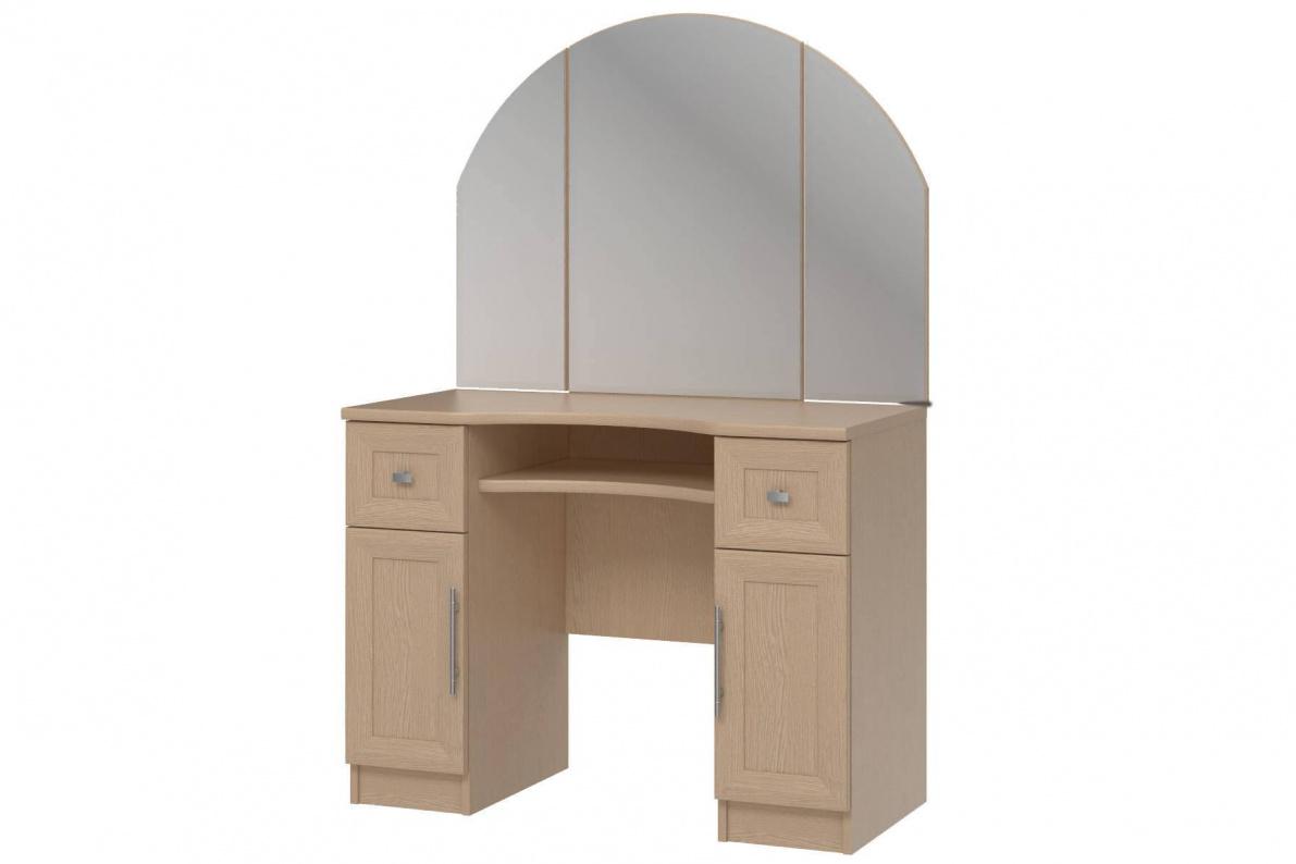 Купить Стол туалетный с зеркалом Юлианна СТЛ.Н 004.03-01 в  интернет магазине мебели. Мебельный каталог STOLLINE.