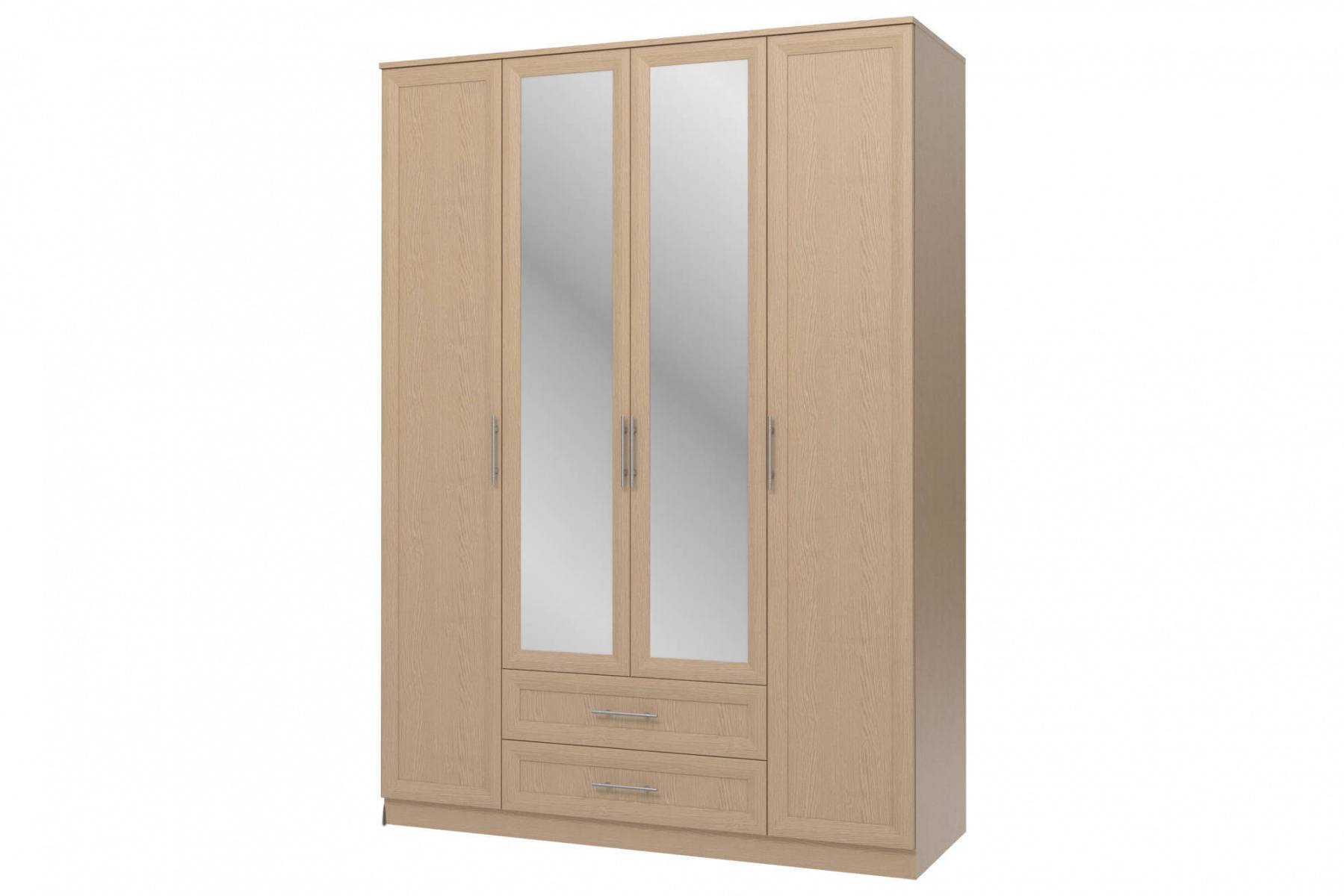 Шкаф 4-х дверный с зеркалами Юлианна СБ.Н-074-01