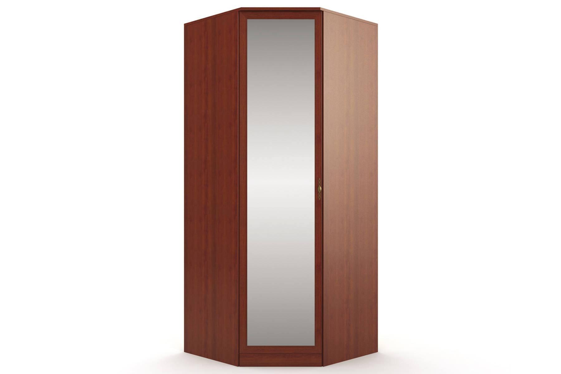 Шкаф угловой с зеркалом Юлианна СБ-101М
